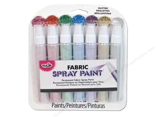 acrylic paint: Tulip Fabric Spray Paint Pack Mini Glitter 7 piece
