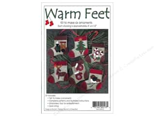 Felt Projects & Kits: Rachel's Of Greenfield Kits Felt Warm Feet Ornaments