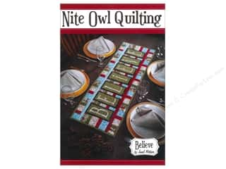 Patterns Table Runner & Kitchen Linens Patterns: Nite Owl Quilting Believe Table Runner Pattern