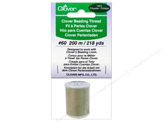 Threads Clearance Crafts: Clover Beading Thread #60 218 yd. Beige