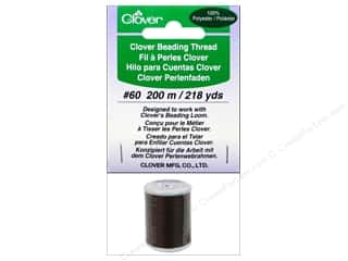 Threads Clearance Crafts: Clover Beading Thread #60 218 yd. Brown