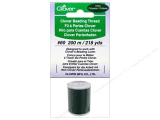 Threads Clearance Crafts: Clover Beading Thread #60 218 yd. Green