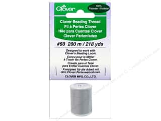 Threads Clearance Crafts: Clover Beading Thread #60 218 yd. Light Grey