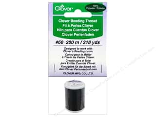 Threads Clearance Crafts: Clover Beading Thread #60 218 yd. Black
