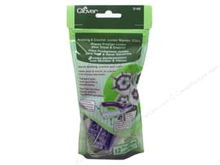 Measuring Tapes/Gauges Yarn Accessories: Clover Knitting & Crochet Jumbo Wonder Clips Purple 12 pc.