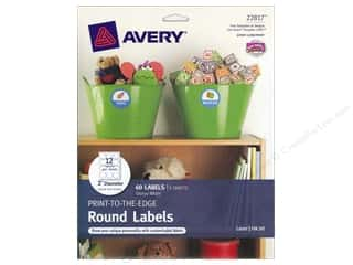 Labels: Avery Round Labels 2 in. Glossy White 60 pc.
