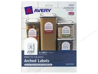 Avery Arched Labels 2 1/4 x 3 in. White 45 pc.