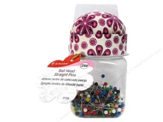 singer thing pink: Singer Notions Sew Cute Ball Head Pins In A Jar 250pc