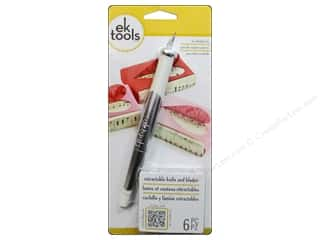 Push Pins Art, School & Office: EK Retractable Knife with 5 Replacement Blades