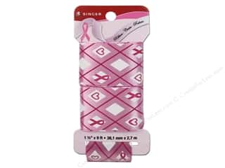"Singer Notions Ribbon Breast Cancer Research Foundation 1 1/2""x 9ft Plaid/Bubble Gum"