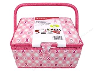 Singer Sewing Kits Basket BCRF Plaid/Bubble Gum