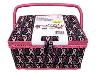 Holiday Gift Ideas Sale Mettler Thread Gift Sets: Singer Sewing Kits Basket BCRF Confetti/Black