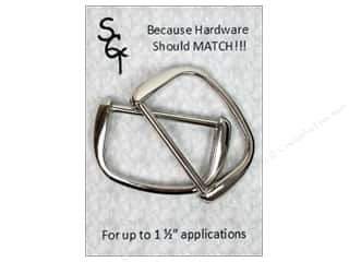 "Applicators $8 - $25: Sisters Common Thread Hardware D Ring 1.5"" Nickel 2pc"