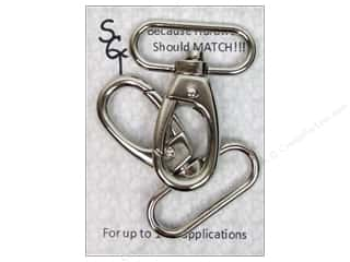 "Sisters' Common Thread Sewing Construction: Sisters Common Thread Hardware Swivel Clip 1.5"" Nickel 2pc"