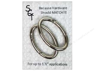 "Hardware Hardware Clasps: Sisters Common Thread Hardware Spring Ring 1.5"" Nickel 2pc"