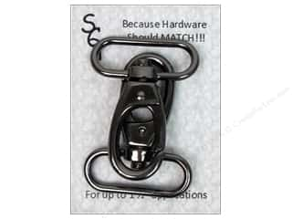 "Sisters' Common Thread Sewing Construction: Sisters Common Thread Hardware Swivel Clip 1.5"" Gun Metal 2pc"