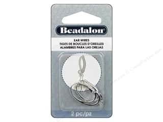 beadalon earring: Beadalon Ear Wires Leverback 26mm Silver Plated 2pc.