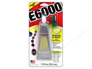 Glues/Adhesives: E6000 AdhesiveJewelry & Bead Glue 1oz With Tip Carded