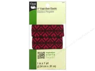 "Dritz Notions Brown: Dritz Elastic Fold Over 1""x 1yd Foulard Design Brown"