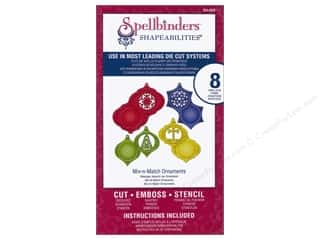 Embossing Aids Christmas: Spellbinders Shapeabilities Die Mix-N-Match Ornaments