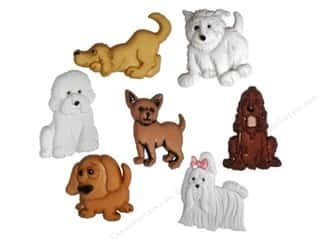 Jesse James Buttons Bulk & Cover Buttons: Jesse James Dress It Up Embellishments Puppy Parade