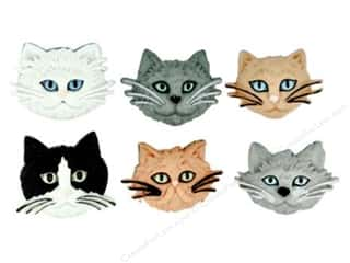 Jesse James Buttons Bulk & Cover Buttons: Jesse James Dress It Up Embellishments Fuzzy Felines