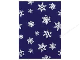 Winter Sewing & Quilting: Kunin Felt 9 x 12 in. White Snowflake Royal Blue (24 pieces)