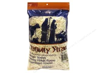 Mother Nature's Floral Arranging: FloraCraft Straw Nativity Bag 4oz