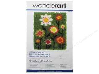 Yarn & Needlework Family: Wonderart Latch Hook Kit 15 x 20 in. Pop Flowers