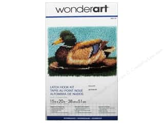 Crafting Kits Wonderart Latch Hook Kit: Wonderart Latch Hook Kit 15 x 20 in. Duck