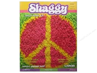 "Caron Latch Hook Kit 12""x 12"" Shaggy Peace Sign"