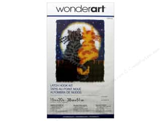 Wonderart Latch Hook Kit 15 x 20 in. Moonlight Meow