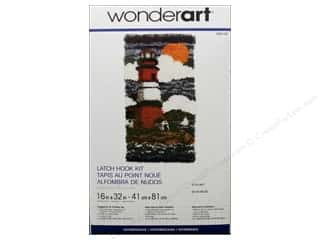 Crafting Kits Wonderart Latch Hook Kit: Wonderart Latch Hook Kit 16 x 32 in. Lighthouse