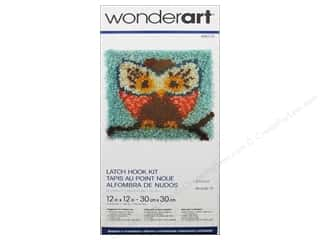 Family Yarn & Needlework: Wonderart Latch Hook Kit 12 x 12 in. Hoot Hoot