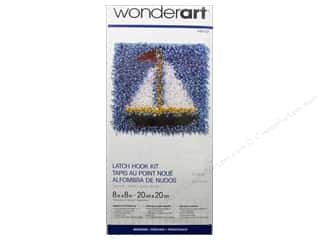 Family Yarn & Needlework: Wonderart Latch Hook Kit 8 x 8 in. Sail Boat
