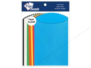 Page Protectors Brown: Paper Accents Pocket 3 1/2 x 5 in. Assorted 10 pc.