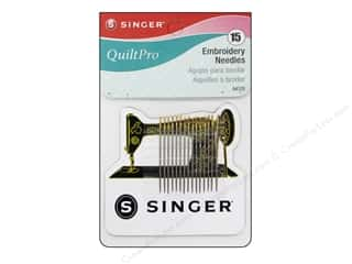 quilting notions: Singer Notions QuiltPro Embroidery Needles with Magnet 15pc