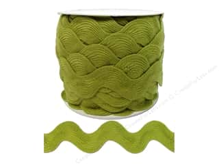 Cheep Trims Ribbons / Fabrics / Threads / Cords: Jumbo Ric Rac by Cheep Trims  1 13/32 in. Chartreuse (24 yards)