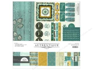 New Years Resolution Sale Kit: Authentique Collection Kit 12 x 12 in. Natural