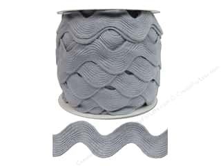 "Cheep Trims Ric Rac Jumbo 1 13/32"" Light Grey- 24yd"