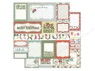 Christmas inches: Authentique 12 x 12 in. Paper Tradition Collection Enhancements (25 pieces)