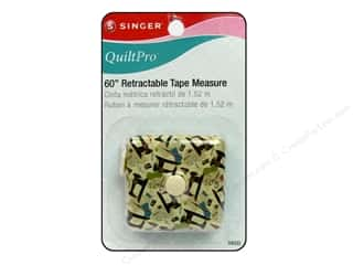 "Measuring Tapes / Gauges Memory/Archival Tape: Singer Notions QuiltPro Tape Measure 60"" Retractable"