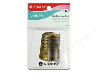 Needle Threaders Black: Singer Notions QuiltPro Basting Needle with Magnet 12pc