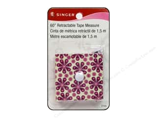 Measuring Tapes / Gauges Memory/Archival Tape: Singer Notions Tape Measure Retractable 60""