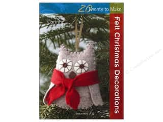Stitchery, Embroidery, Cross Stitch & Needlepoint Holiday Gift Ideas Sale: Search Press Twenty To Make Felt Christmas Decorations Book by Corinne Lapierre