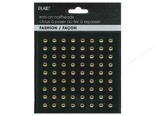 Plaid New: Plaid Iron On Hot Fix Nailhead Round Shiny Gold