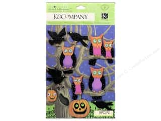 Halloween Spook-tacular paper dimensions: K&Company Grand Adhesions Tim Coffey Halloween Owl