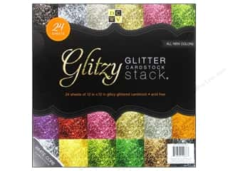 Die Cuts 12 x 12 in. Cardstock Stack Glitzy