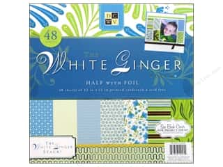 Die Cuts 12 x 12 in. Cardstock Mat Stack White Ginger