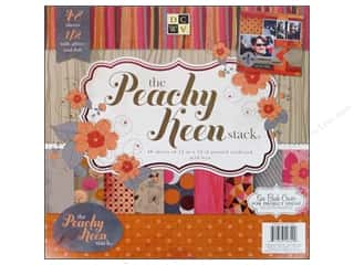 Clearance Die Cuts with a View Stacks: Die Cuts 12 x 12 in. Cardstock Mat Stack Peachy Keen